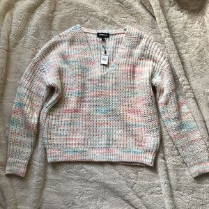 NWT Express Rainbow Sweater Small